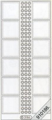 Stickers / Transparent, silber,  Art - Stickers,  Stickers transparent,  Jahreszeit - Everyday,  Karos