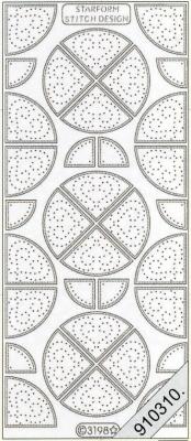 1 Stickers zum sticken - 10 x 23 cm 3198 - viertel Runde - silber, silber,  Art - Stickers zum sticken,  Jahreszeit - Everyday,  Ecken