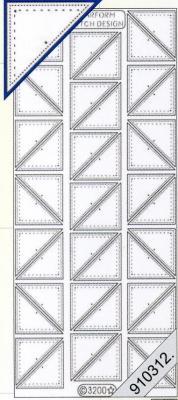 Stickers mit Stickmuster - transparent - silber, silber,  Art - Stickers zum sticken,  Jahreszeit - Everyday,  Ecken
