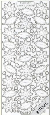 Starform, silber,  Art - Stickers zum sticken,  Jahreszeit - Everyday,  Blätter