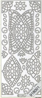 Stickers / Aufkleber, silber,  Art - Stickers,   sonstige,  Jahreszeit - Everyday,  Ornamente