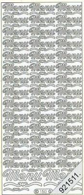 Stickers Text Stickers - english - weiß, weiß,  Schriften - englisch,  Jahreszeit - Everyday,  Menü