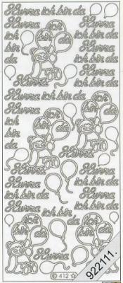 Stickers Text-Sticker - deutsch - silber, silber,  Schriften - deutsch,  Ereignisse - Geburt,  Jahreszeit - Everyday,  Geburt