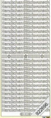 Stickers / deutsch, silber,  Schriften - deutsch,  Jahreszeit - Everyday