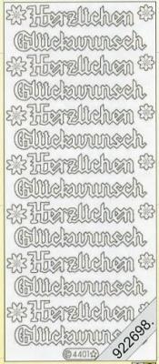 Stickers / deutsch, silber,  Schriften - deutsch,  Ereignisse - Feier,  Jahreszeit - Everyday