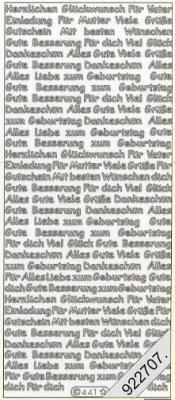 Stickers Text-Sticker - deutsch - silber, silber,  Schriften - deutsch,  Jahreszeit - Everyday