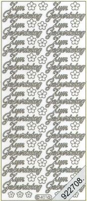 Stickers Zum Geburtstag - weiß