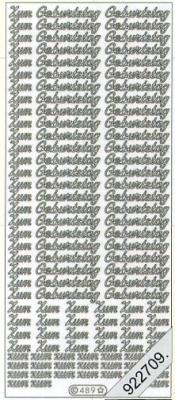 Stickers Zum Geburtstag klein - bronze,  sonstige,  Schriften - deutsch,  Ereignisse - Feier,  Jahreszeit - Everyday
