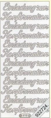 Stickers Text-Sticker - deutsch - gold, gold,  Schriften - deutsch,  Ereignisse - Sonstige,  Jahreszeit - Everyday,  Einladung,  Konfirmation