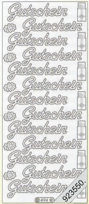 Stickers Text-Sticker - deutsch - silber