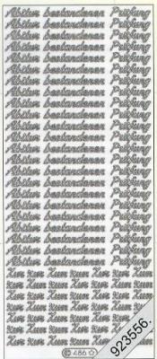 Stickers Abitur - bestandene Prüfung - silber, silber