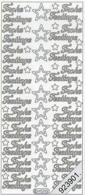 Stickers 0452 - Frohe Festtage - silber