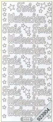 Stickers FroheWeihnachtenTextStickerdeutsch  - silber, silber,  Schriften - deutsch,  Jahreszeit - Weihnachten,  Jahreszeit - Weihnachten