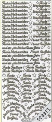 1 Stickers - 10 x 23 cm 0454 - Frohe Weihnachten - gold, gold,  0454 - Frohe Weihnachten