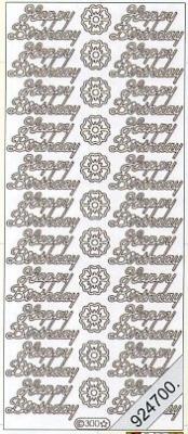 Stickers english - Happy Birthday - weiß, weiß,  weiß,  Art - Stickers normal