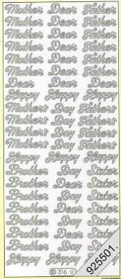 Stickers Text Stickers - english - gold, gold,  Schriften - englisch,  Jahreszeit - Everyday,  Bruder ,  Schwester