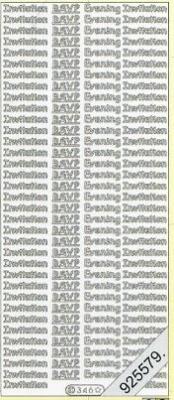 Stickers english - Inviation RSVP - silber, silber,  silber