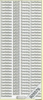 Stickers english - Inviation RSVP - gold, gold,  gold