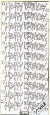 Stickers Text Stickers - english - silber, silber,  Schriften - englisch,  Jahreszeit - Everyday,  Geburtstag