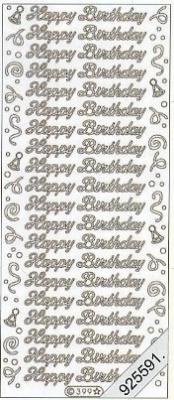 Stickers Text Stickers - english - gold, gold,  Schriften - englisch,  Jahreszeit - Everyday,  Geburtstag