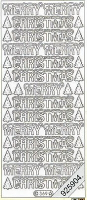Stickers Merry Christmas - gold, gold