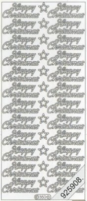 Stickers Happy Christmas - gold, gold,  en - Happy Christmas