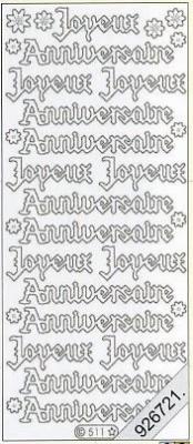 Stickers Text Stickers -  français - silber, silber,  Schriften - französisch,  Jahreszeit - Everyday,  Geburtstag