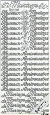 Stickers / Texte, silber,  Schriften - französisch,  Ereignisse - Hochzeit,  Jahreszeit - Everyday,  Hochzeit