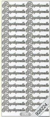 Stickers fi - Rippilapselle - silber