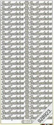 Stickers Text Stickers -  dansk - silber, silber,  dänisch,  Schriften