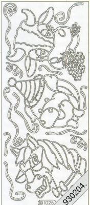 Stickers Pferd Kuh Schwein gold - gold, gold,  gold,  Art - Stickers