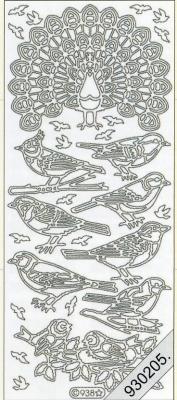 Stickers Figuren / Motive - gold, gold,  Art - Stickers,  Jahreszeit - Everyday,  Vögel