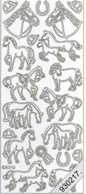 Stickers Figuren / Motive - gold, gold,  Art - Stickers,  Jahreszeit - Everyday,  Pferde