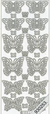 Stickers 1013 - Schmetterling - gold