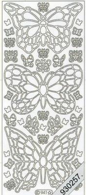 Stickers Figuren / Motive - silber, silber,  Art - Stickers,  Jahreszeit - Everyday,  Schmetterlinge
