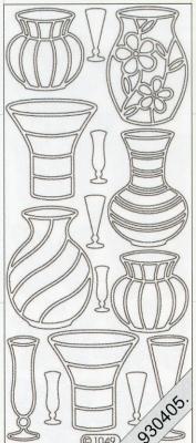 Stickers Vasen weiß - weiß, weiß,  weiß,  Art - Stickers,  Vasen