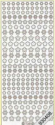 Stickers Figuren / Motive - gold, gold,  Art - Stickers,  Jahreszeit - Everyday,  Blumen