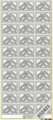 Stickers Figuren / Motive - silber, silber,  Ereignisse - Hochzeit,  Jahreszeit - Everyday,  Hochzeit,  Ringe