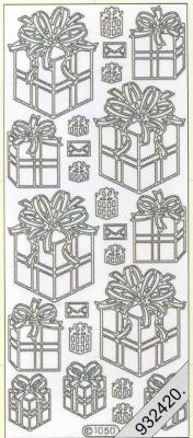Stickers 1050 - Geschenkschachtel - gold, gold,  Art - Stickers