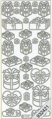 1 Stickers - 10 x 23 cm  - silber, silber,  Art - Stickers,  Jahreszeit - Everyday,  Geschenke