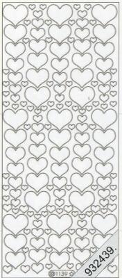 1 Stickers - 10 x 23 cm  - rot, rot,  Art - Stickers,  Jahreszeit - Everyday,  Herz,  Liebe