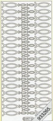 Stickers Figuren / Motive-gold- Fische - gold, gold,  Ereignisse - Kommunion,  Art - Stickers,  Jahreszeit - Everyday,  Fische
