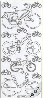 Stickers Motive / Figuren - silber, silber,  Art - Stickers,  Jahreszeit - Everyday,  Fahrrad