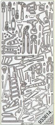Stickers Motive / Figuren - silber, silber,  Art - Stickers,  Jahreszeit - Everyday,  Werkzeug