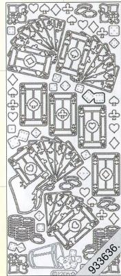 Stickers Motive / Figuren - silber, silber,  Art - Stickers,  Kartenspiel