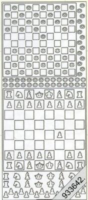 Stickers Dame und Schach silber - silber