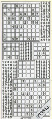 Stickers Sudoku silber - silber, silber,  silber,  Art - Stickers
