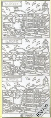 Stickers St.Tropez silber - silber, silber,  silber,  Art - Stickers