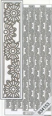 Stickers Bordüren / Linien - silber, silber,  Muster - Linien,  Art - Stickers,  Jahreszeit - Everyday,  Muster