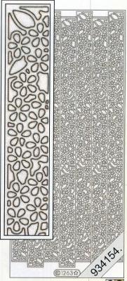 1 Stickers - 10 x 23 cm  - silber, silber,  Muster - Linien,  Art - Stickers,  Jahreszeit - Everyday,  Muster